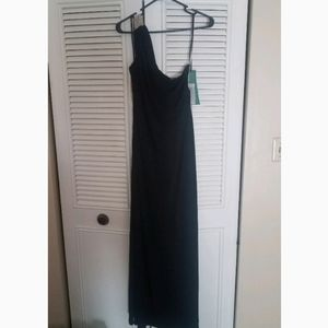 Black/nude special occasion dress